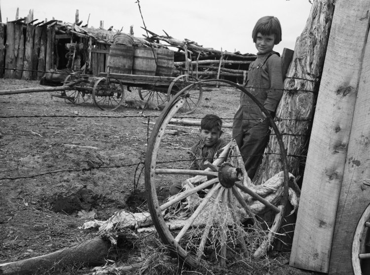 Children of submarginal farmer, Oneida County, Idaho. 1936