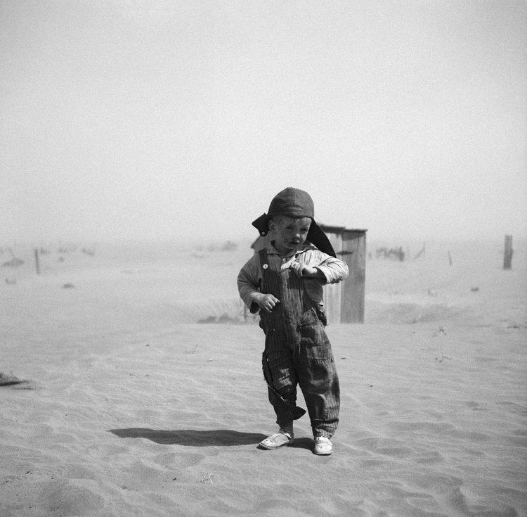 Son of farmer in dust bowl area. Cimarron County, Oklahoma. 1936